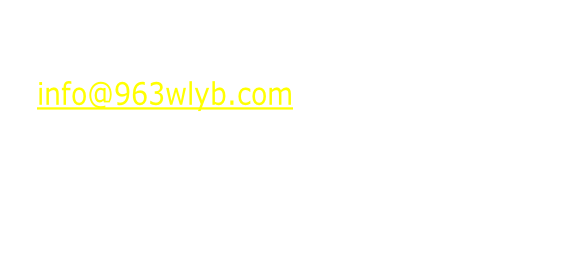 Send us your community info for Your not for profit event to info@963wlyb.com or Mail to: WLYB FM PO Box 396 Livingston AL. 35470 Please send information two weeks in advance. We reserve the right to post content.
